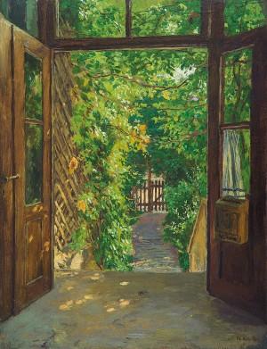 Eingang zu Röths Villa in München-Gern ⋅ 1907 Image