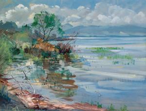 Uferpartie am Chiemsee ⋅ um 1925 Image