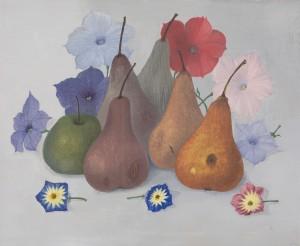 Stillleben mit Obst und Blüten ⋅ 1971 Image