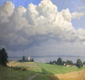 Sommerwolken am Chiemsee bei Gstadt ⋅ 1927 Image