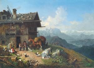 Wirthaus auf der Alm ⋅ um 1865 Image