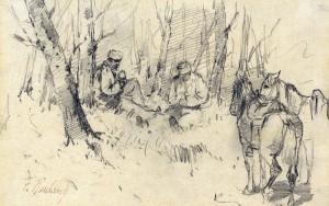 Kosaken bei der Rast ⋅ um 1885/90 Image