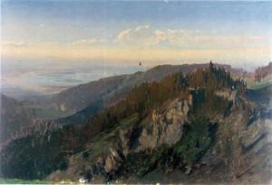 Blick von der Kampenwand auf den Chiemsee ⋅ um 1849 Image