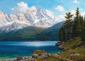 Blick über den Eibsee zur Zugspitze ⋅ um 1920/25 Image