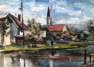 Landschaft mit Kirche Image