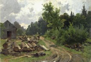Holzlagerplatz ⋅ 1886 Image