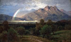 Inntallandschaft mit Regenbogen Image