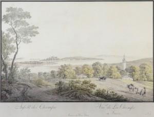 Ansicht des Chiemsee (nach einem Aquarell von Johann Georg von Dillis (1759-1841) ⋅ um 1802 Image