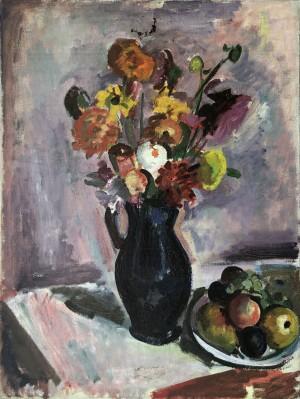Blumenstrauß mit Früchten Image