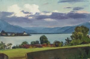 Blick von Balkon auf die Fraueninsel ⋅ um 1925 Image