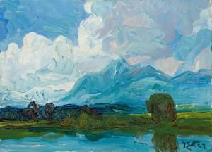 See mit Wolken (Chiemsee) ⋅ um 1925 Image