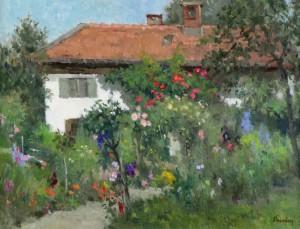 Garten am Haus (Fraueninsel) ⋅ um 1975 Image
