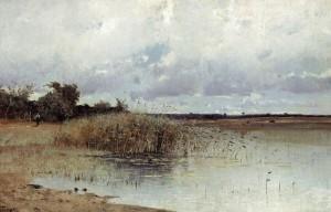 Uferpartie ⋅ um 1900 Image