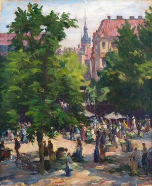 Der Viktualienmarkt in München ⋅ um 1920  Image