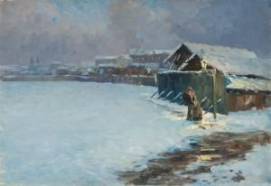 Winternacht (München) ⋅ um 1905 Image