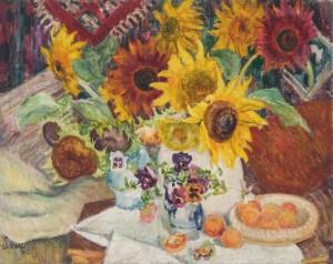 Stillleben mit Sonnenblumen ⋅ 1942 Image