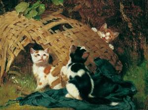 Spielende Katzen ⋅ 1886 Image