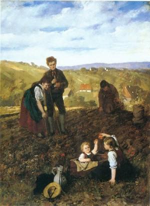 Kartoffelernte ⋅ um 1872 Image