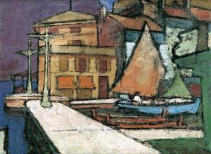 Am Hafen von Malcesine ⋅ 1927 Image