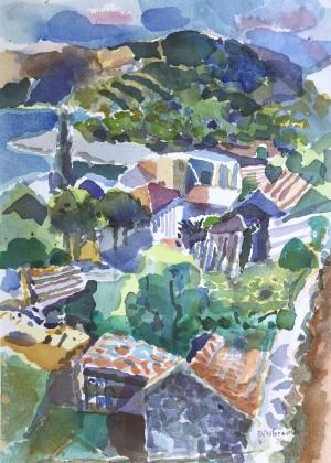 Landschaft bei Milna, Insel Hvar, Kroatien ⋅ 1994 Image