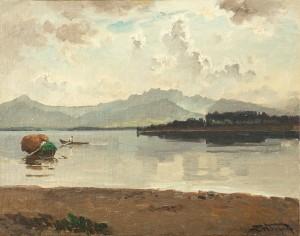 Herreninsel mit Kampenwand ⋅ um 1890 Image