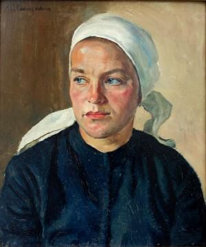 Junge Frau mit Kopftuch ⋅ um 1925 Image
