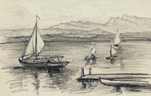 Boote am Chiemsee Image