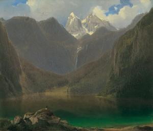 Obersee mit Watzmann ⋅ um 1850 Image