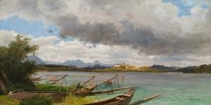 Blick von der Fraueninsel auf Herrenchiemsee ⋅ 1864 Image