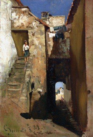 Gasse in Sorrent ⋅  1882 Image