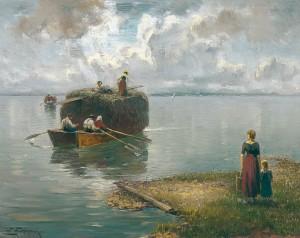 Heuschiff am Chiemsee ⋅ 1913 Image