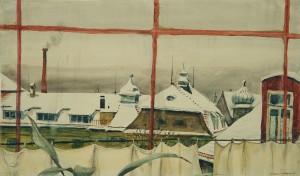 Blick aus dem Fenster der Münchner Atelier-Wohnung in der Hohenzollernstraße ⋅ um 1922/24 Image