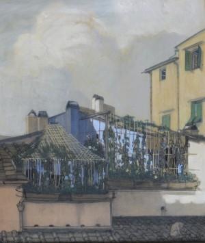 Dachgarten in Florenz ⋅ 1913 Image