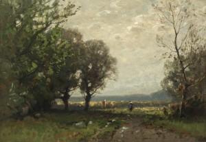 Baumgruppe am Kornfeld ⋅ um 1885 Image