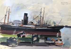 Hafen in Amsterdam ⋅ 1932 Image