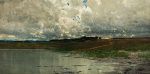 Wolkenstimmung am Chiemsee ⋅ um 1900 Image