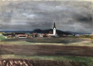 Odelsham bei Wasserburg am Inn in Gewitterstimmung ⋅ um 1940 Image