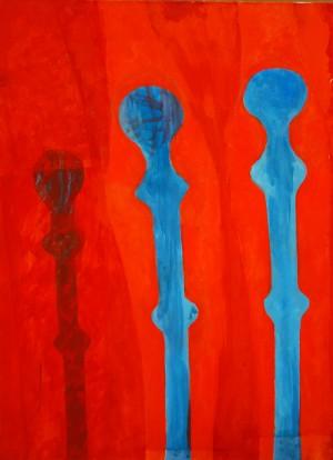 Drei schlanke Figuren ⋅ um 1974 Image