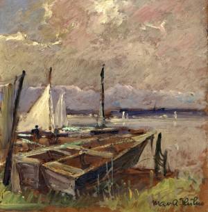 Chiemseeufer mit Booten Image