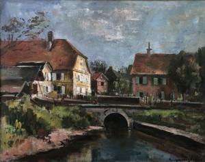 Fränkisches Dorf bei Bamberg ⋅ 1940 Image