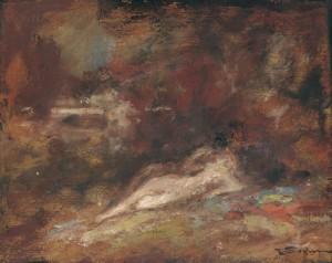 Liebespaar im Englischen Garten ⋅ um 1935 Image
