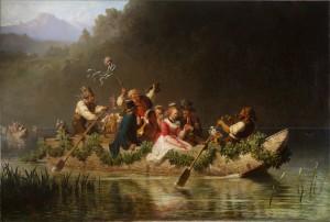 Hochzeitszug auf einem bayerischen Gebirgssee ⋅ 1867 Image