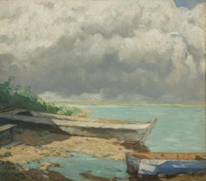 Feierliche Wolken am Chiemsee ⋅ 1933 Image
