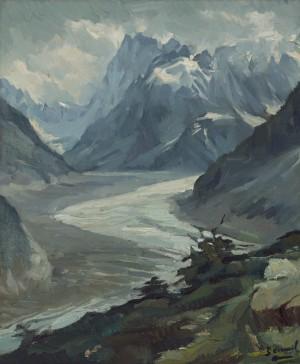 Grandes Jorasses-Nordwand im Mont-Blanc-Massiv, Frankreich ⋅ 1945/50 Image