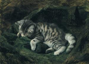 Spielende Katze ⋅ 1888 Image