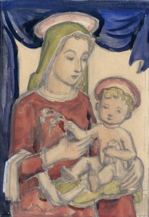 Madonna mit Kind, Skizze IV ⋅ 1945 Image