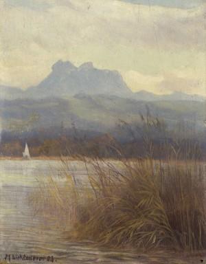 Simsee mit Heuberg ⋅ 1923 Image