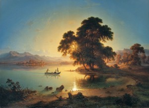 Sonnenuntergang am Chiemsee ⋅ 1845 Image