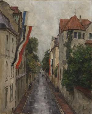 Die Kaulbachstraße in München ⋅ 1915 Image