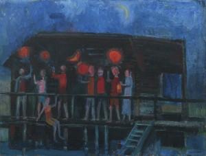 Lampionfest an der Feßlerhütte am Chiemsee ⋅ 1962 Image